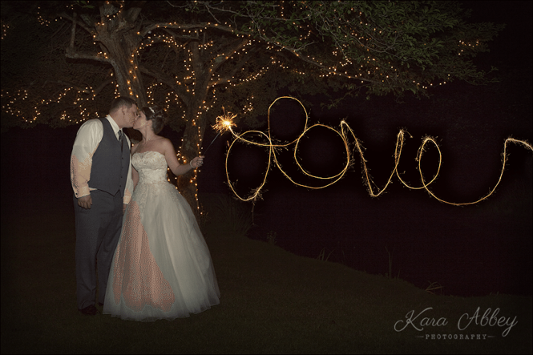 Bride Groom Love Sparklers Lit Up Tree Green Gables Jennerstown Pa Wedding Photography