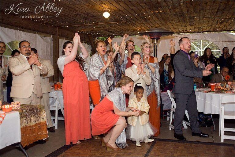 ... Rainy Day Wedding Photographer Tioga Gardens Owego, NY Reception Grand  Entrance ...