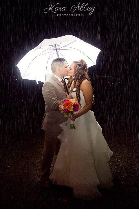 ... Rainy Day Wedding Photographer Tioga Gardens Owego, NY Night Shot