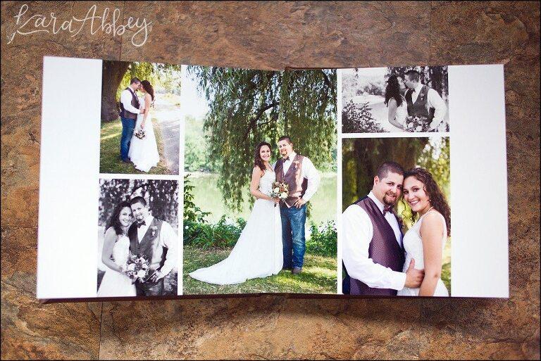 Kara Abbey Photography Luxury Heirloom Leather Wedding Album Layflat Binding Irwin PA Pittsburgh