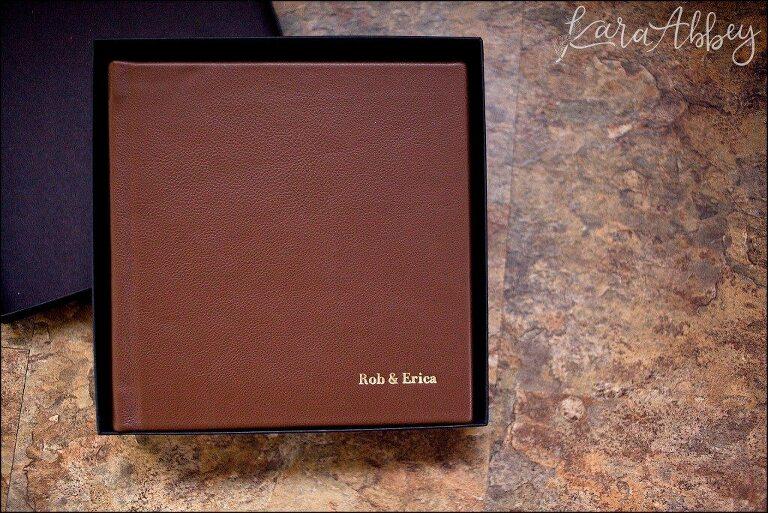 Kara Abbey Photography Luxury Heirloom Leather Wedding Album Irwin PA Pittsburgh