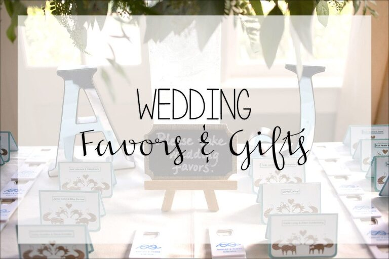 4475f29cf4b73 Wedding Favors   Are they necessary + Are there alternatives