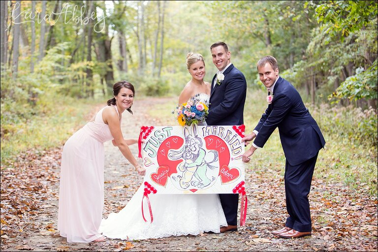 Elegant Navy Fall Wedding Bride Groom Outdoor Portrait