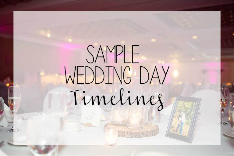 A Sample Wedding Day Timeline - by Wedding Photographer in Irwin, PA