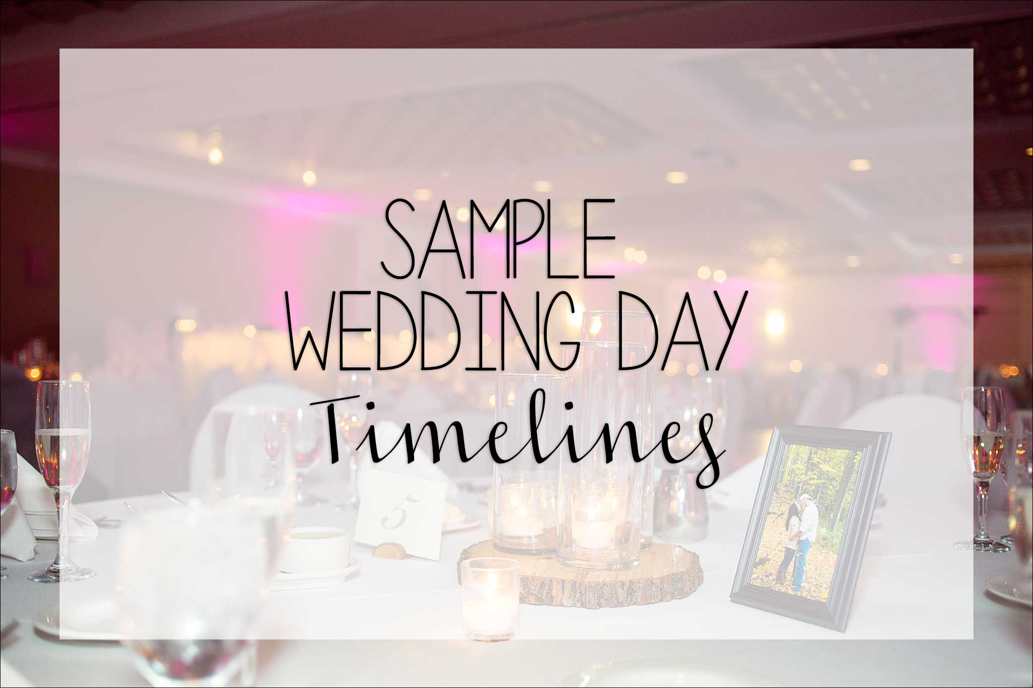 A Sample Wedding Day Timeline By Wedding Photographer In Irwin Pa