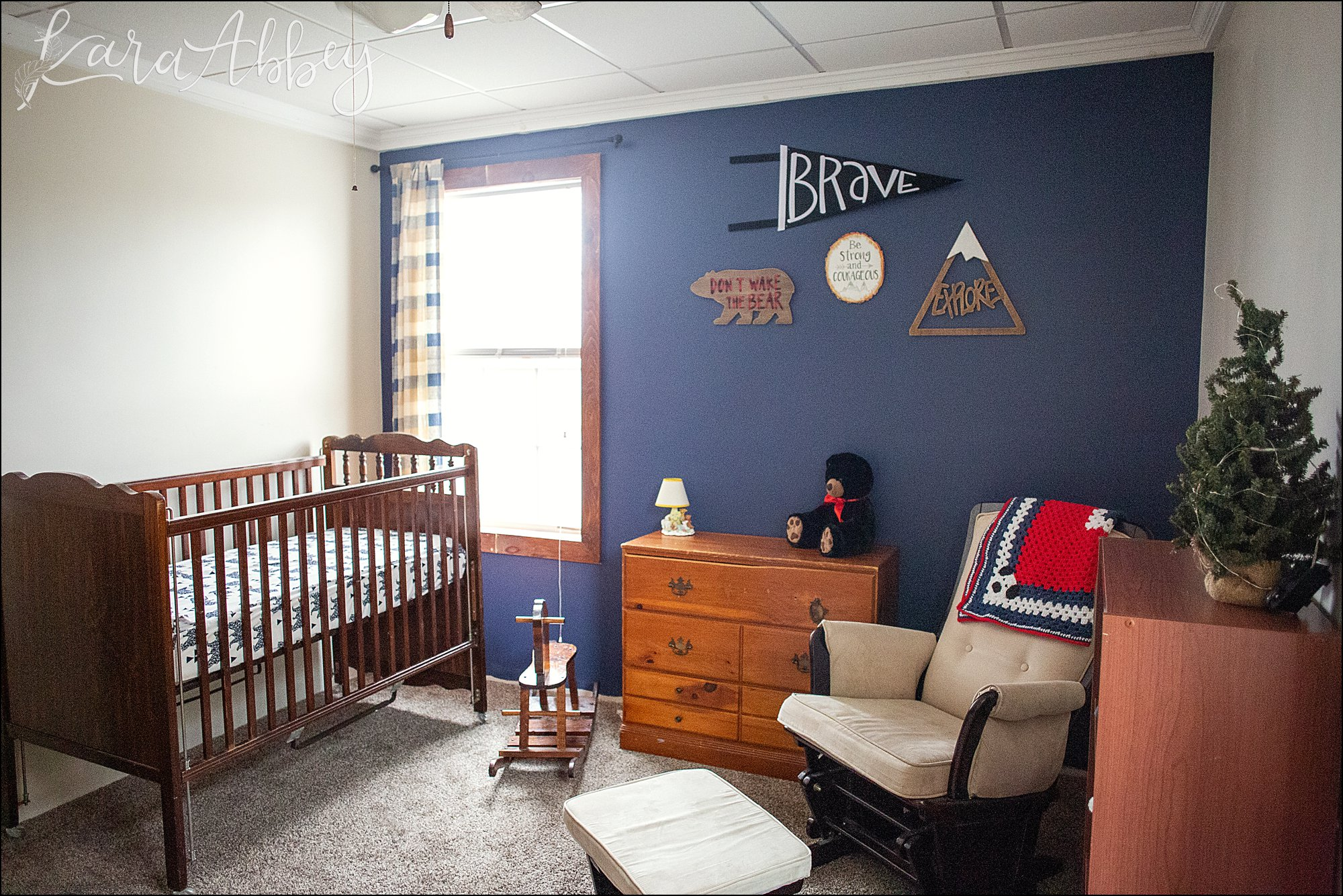 Navy Blue Bear Themed Nursery For Baby Boy In Irwin Pa