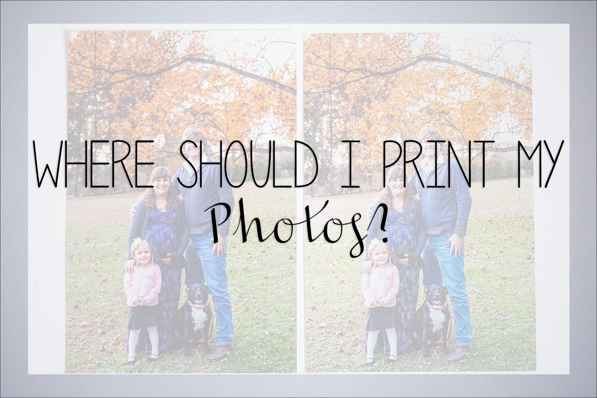 Where Should I Print My Photos Consumer Professional Lab Comparison